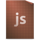 128x128px size png icon of Mimetypes javascript