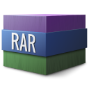 128x128px size png icon of Mimetypes rar