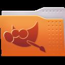 128x128px size png icon of Places folder gimp