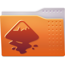 128x128px size png icon of Places folder inkscape