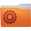 128x128px size png icon of Places folder system