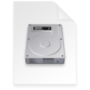 128x128px size png icon of disk image Document dark
