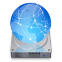 128x128px size png icon of iDisk dark