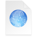 128x128px size png icon of internet Document