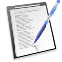 128x128px size png icon of pen & paper