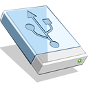128x128px size png icon of USB HD