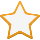 128x128px size png icon of star empty