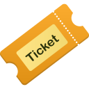 128x128px size png icon of ticket
