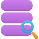 128x128px size png icon of data search