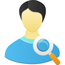 128x128px size png icon of Male user search