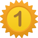 128x128px size png icon of Number 1
