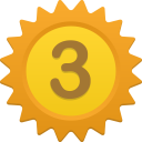 128x128px size png icon of Number 3