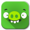 128x128px size png icon of Apps bad piggies