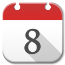 128x128px size png icon of Apps calendar