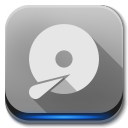 128x128px size png icon of Apps drive harddisk