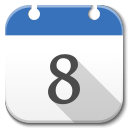 128x128px size png icon of Apps google calendar B