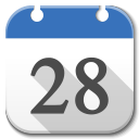 128x128px size png icon of Apps google calendar