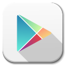 128x128px size png icon of Apps google play
