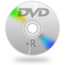 128x128px size png icon of DVD+R copy