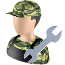 128x128px size png icon of Serviceman