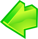128x128px size png icon of Arrow Back