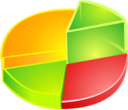 128x128px size png icon of Pie Diagram