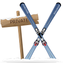 128x128px size png icon of private