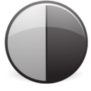 128x128px size png icon of Black white