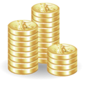 128x128px size png icon of Coins