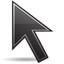 128x128px size png icon of Pointer black