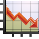 128x128px size png icon of Stats down