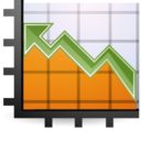 128x128px size png icon of Stats up