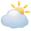 128x128px size png icon of Weather cloud sun
