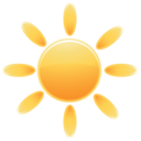 128x128px size png icon of Weather sun