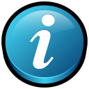128x128px size png icon of Get Info