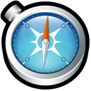 128x128px size png icon of Safari