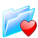 128x128px size png icon of favourites folder