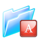 128x128px size png icon of font folder