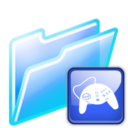 128x128px size png icon of game folder