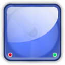 128x128px size png icon of hd blue
