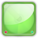 128x128px size png icon of hd green