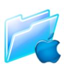 128x128px size png icon of mac folder
