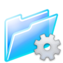 128x128px size png icon of program folder