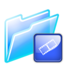 128x128px size png icon of video folder