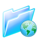 128x128px size png icon of web folder