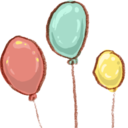 128x128px size png icon of Hp balloons