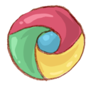 128x128px size png icon of Hp chrome