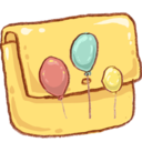 128x128px size png icon of Hp folder balloons