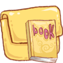 128x128px size png icon of Hp folder book