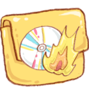 128x128px size png icon of Hp folder burn